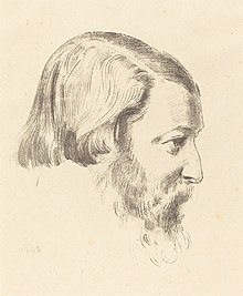 Lithograph portrait of Paul Serusier by Odilon Redon in the National Gallery of Art, Washington, DC.