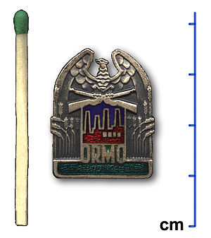 ORMO - Inconspicuous button of the ORMO member to be worn on a front pocket or lapel (later years)
