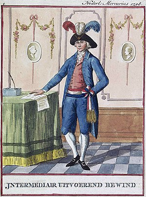 Uitvoerend Bewind - Official costume of a member of the Executive Authority of the Batavian Republic (1798)