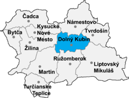 Okrug Dolni Kubin location map