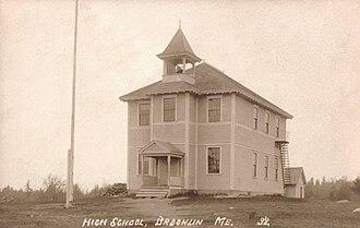 Brooklin, Maine - Image: Old High School, Brooklin, ME