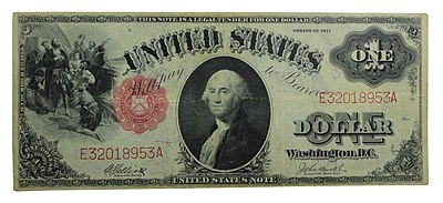 Series Of 1917 1 United States Bill