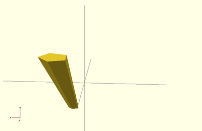 OpenScad linear_extrude scale example