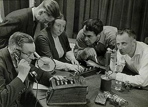 Radio drama - Recording a radio play in the Netherlands (1949), Spaarnestad Photo