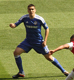 Romeu playing for Chelsea in 2012