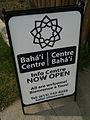 Ottawa Baha'i Centre open sign.JPG