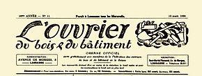 El trabajador de la madera y la construcción, 13 de marzo de 1930.