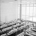 Overzichtsfoto van bovenaf genomen met studenten aan leestafels in een universit, Bestanddeelnr 255-2424.jpg