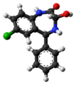 Oxazepam molecule ball from xtal.png