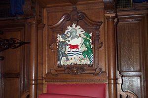 Timeline of Oxford - City coat of arms in Town Hall