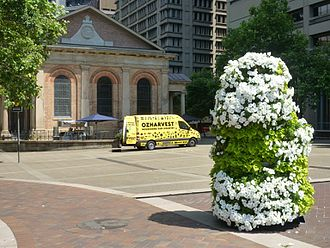 Ronni Kahn - Food delivery from OzHarvest to St James' Church, Sydney to support its Sister Freda mission to disadvantaged people