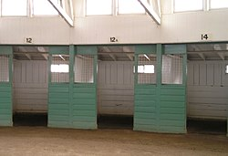 The stall numbers at the Santa Anita Park show that 13 is considered an unlucky number in horse racing.