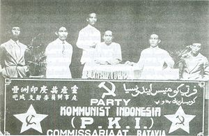 Communist Party of Indonesia - PKI meeting in Batavia (now Jakarta), 1925
