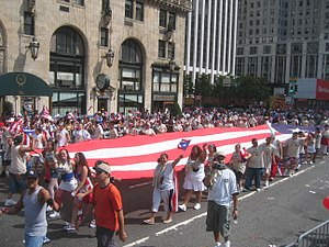 National Puerto Rican Parade in New York City. The Puerto Rican population in New York is the largest in the United States.