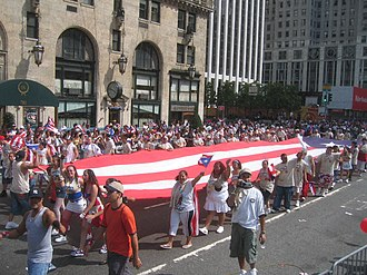 Puerto Ricans in the United States - National Puerto Rican Parade in New York City, 2005.