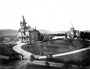 Sayre, Pennsylvania - Robert Packer Hospital was named after Robert Asa Packer, who came to Sayre when the town became the point of distribution for the Lehigh Valley Railroad's northern traffic. Shortly after his arrival, Packer invested in the Sayre Land Company and purchased 20 acres between Lockhart and Hayden Streets and between Wilbur Avenue and Hayden's Pond.