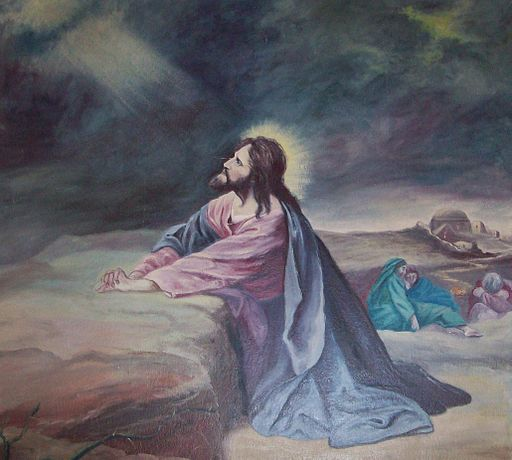 Painting of Christ in Gethsemane