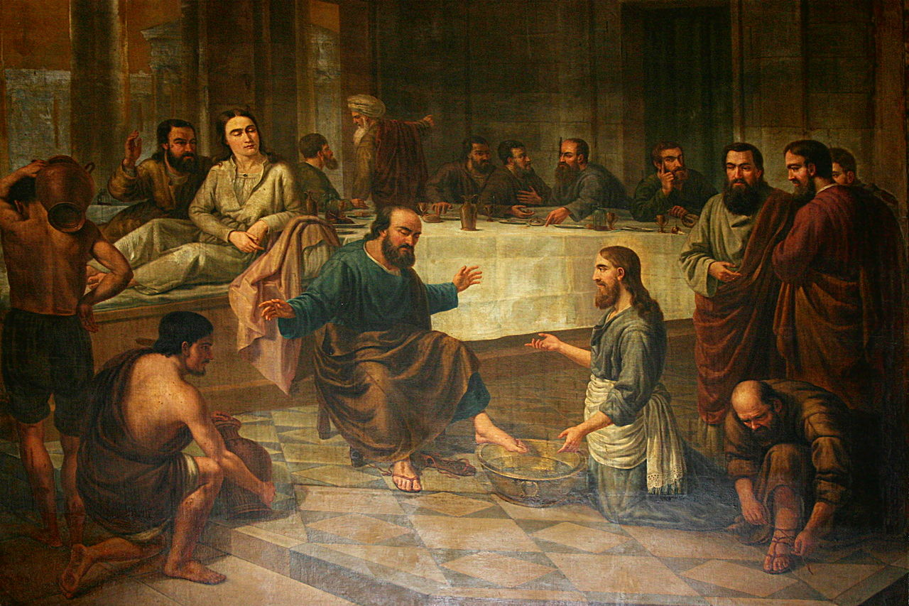 Filepainting Of The Foot Washing Santa Maria Del Mar