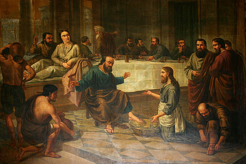 File:Painting of the Foot Washing - Santa Maria del Mar - Barcelona 2014 (crop).JPG
