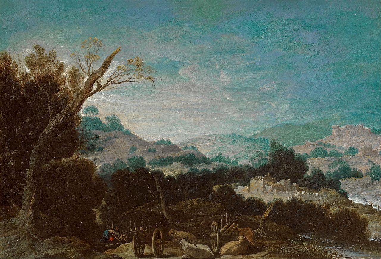 File:Paisaje con pastores, de Francisco Collantes (Museo ...