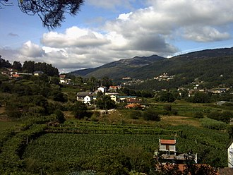 Mos, Spain - View of Mos