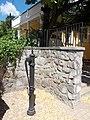 Pajor-house one storey building. Monument ID 7385. Courtyard. Cast iron fountain. - Szentendre, Kossuth Lajos St 5.JPG