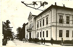 The Gorj county Prefecture building of the interwar period.
