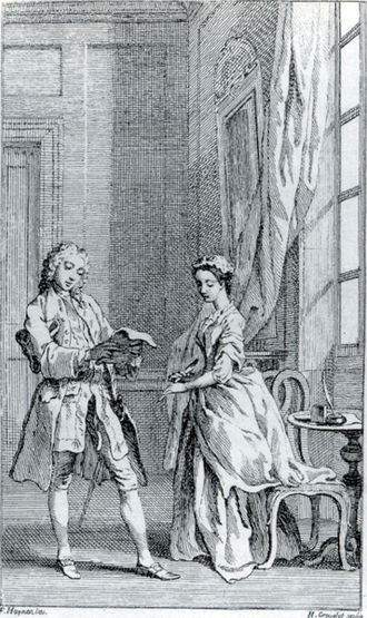 Hubert-François Gravelot - Illustration for the 6th edition of Samuel Richardson's Pamela, 1742, after a design by Francis Hayman