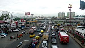 Traffic Jam at Puente de Balboa in Panama City