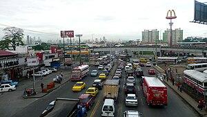 Traffic Jam at Puente de Balboa in Panama City