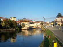 Il ponte seicentesco sul Naviglio Grande a Bernate Ticino