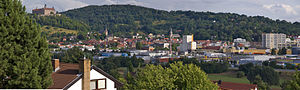Kulmbach - View over Kulmbach, Plassenburg and the town centre (Innenstadt)