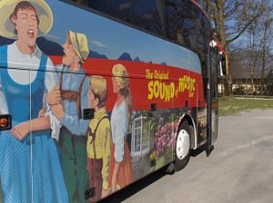 Tour bus for The Sound of Music tour