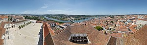 Panoramic view of Coimbra from highest building