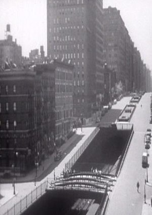 Park Avenue - The railroad tunnel in 1941