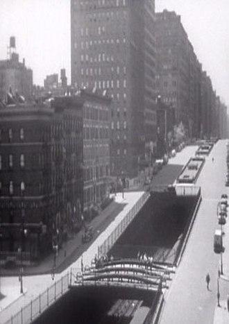 Park Avenue - The railroad tunnel in 1941