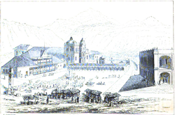 Parque Central, Quetzaltenango by Frederick Catherwood 1840.png