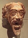 源于公元一世纪或二世纪的安息帝国陶制人面喷水器