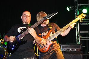 Pestilence (band) - Patrick Mameli, Jeroen Paul Thesseling, live 2011.