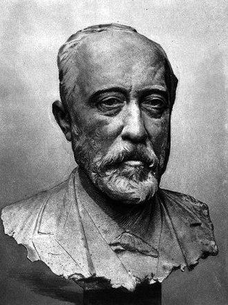 Paul Arène - Bust of Paul Arène, by Jean-Antoine Injalbert, 1897.
