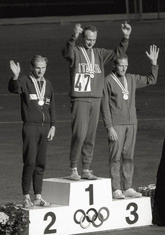 Ingvar Pettersson (racewalker) - Ingvar Pettersson (right) at the 1964 Olympics