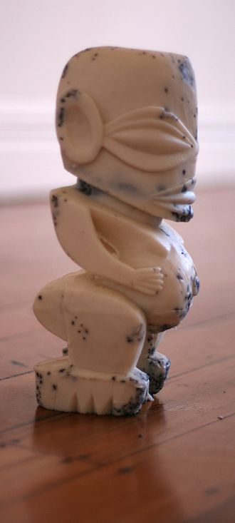 Enjoy Public Art Gallery - One of the group of Tagaloa figures by Paula Schaafhausen in the 'Ebbing Tagaloa' exhibition