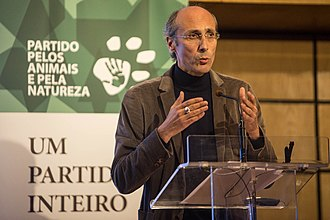 People–Animals–Nature - Paulo Borges, the party's first leader.