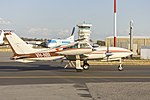 Pay's Helicopters (VH-NBI) Cessna 310R taxiing at Wagga Wagga Airport (2).jpg