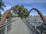 Pedestrian overpass at Hamilton VTA station.jpg