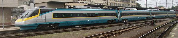 Souprava Pendolino na nádraží v Kralupech nad Vltavou
