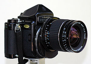 Medium format (film) - Pentax 6×7 format SLR camera with perspective control lens