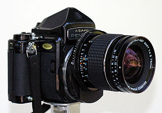 Medium format - Pentax 6×7 format SLR camera with perspective control lens