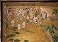 Periodo edo, paravento con scena di festival, 1615-1699, 03.jpg