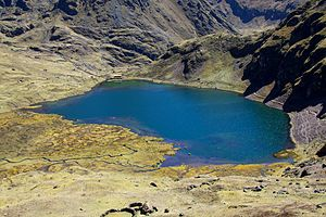 Lares District - A lake at the Lares trek